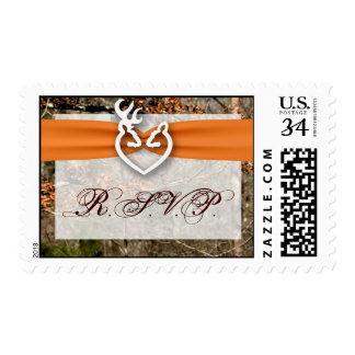20 Postage Stamps Hunting Deer Coupl Doe Buck Camo