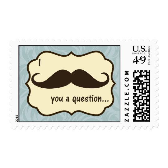 20 Postage Stamps I Mustache You a Question fun