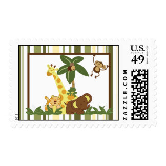 20 Postage Stamps Jungle Babies
