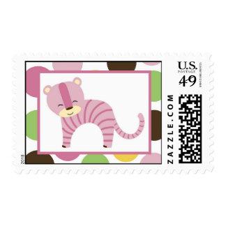 20 Postage Stamps Jungle Queen Tiger Safari Zoo