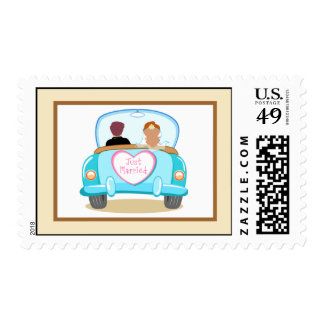 20 Postage Stamps Just got Married Couple
