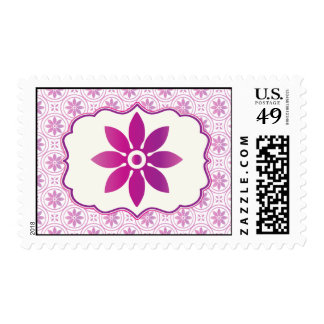 20 Postage Stamps Magenta Purple Formal Flower Sta