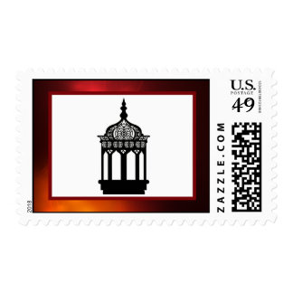 20 Postage Stamps Maroon Moroccan Lantern