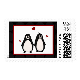 20 Postage Stamps Penguin Love Couple Mate for Lif