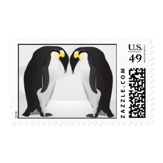 20 Postage Stamps Penguins Mate for Life Gray Arct