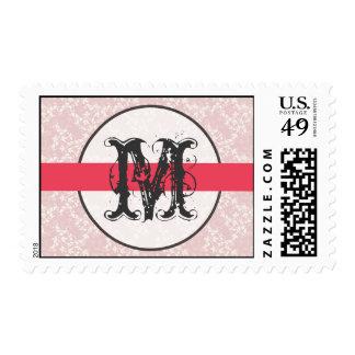 20 Postage Stamps Pink Floral Flower