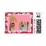 20 Postage Stamps Pink Hawaiian Luau Tropical