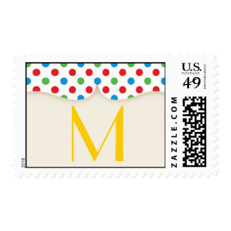 20 Postage Stamps Primary Polka Dot Red Green Blue