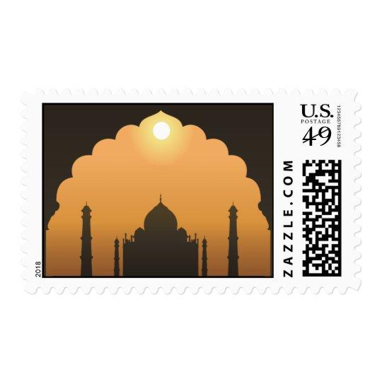 20 Postage Stamps Taj Mahal Sunset Orange Yellow R