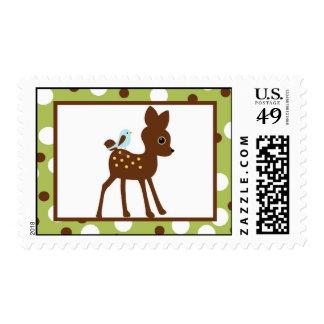 20 Postage Stamps Woodland Friends Bird