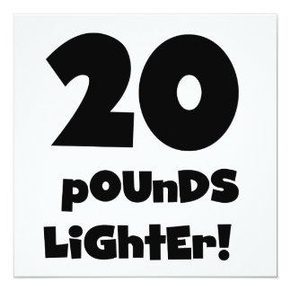 20 Pounds Lighter Invitation