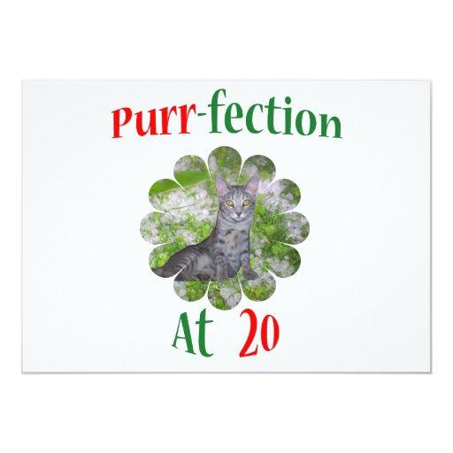20 Purr-fection 5x7 Paper Invitation Card