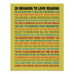 20 razones para amar los libros de lectura poster