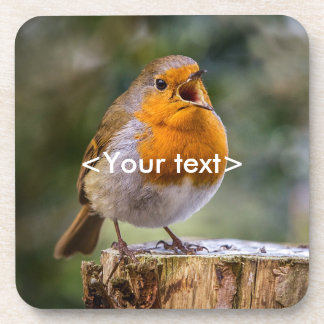 20 Robin coasters with your own wording