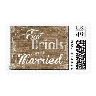 20 sellos comen la bebida sean arpillera casada