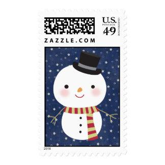 20 sellos del muñeco de nieve del sombrero de copa