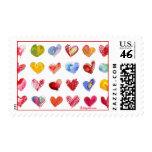 20 sellos tamaño pequeño de los corazones de la ta