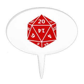 20 Sided Dice Cake Pick