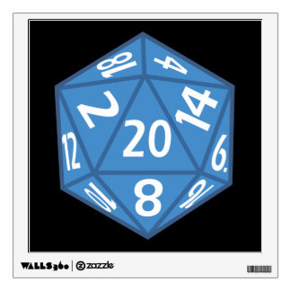 20 Sided Dice Wall Decal