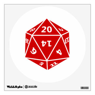 20 Sided Dice Wall Sticker