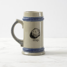 20 Sided Die Crap Luck Beer Stein at Zazzle