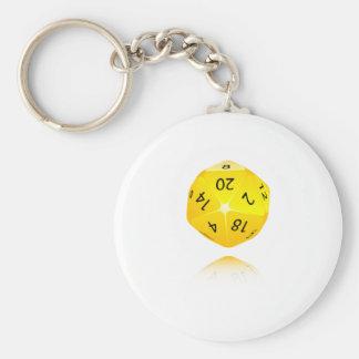 20-sided Die Keychain