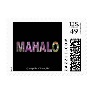 20 Small Mahalo Postage Stamps, Various Rates