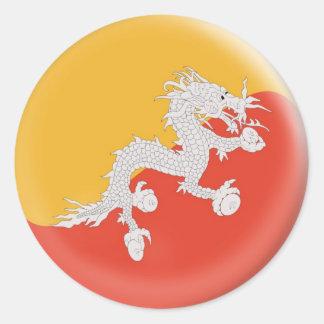 20 small stickers Bhutan flag