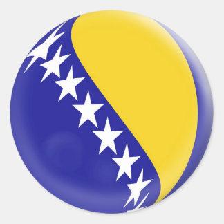 20 small stickers Bosnia & Herzegovinia flag