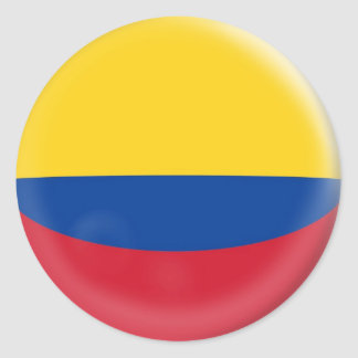 20 small stickers Colombia Colombian flag