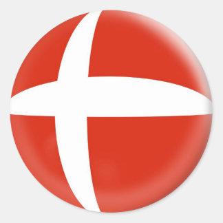 20 small stickers Denmark Danish Flag