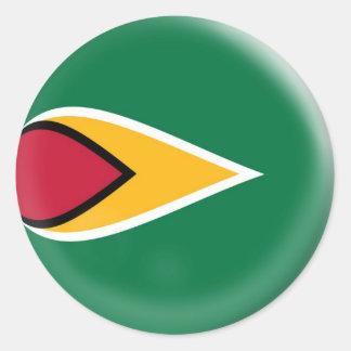 20 small stickers Guyana flag