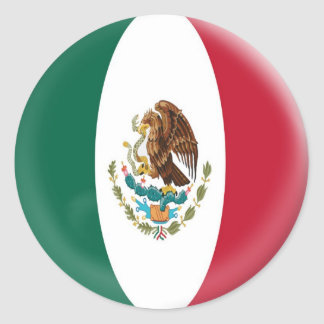 20 small stickers Mexico Mexican flag