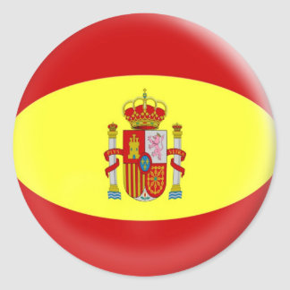 20 small stickers Spain Spanish flag