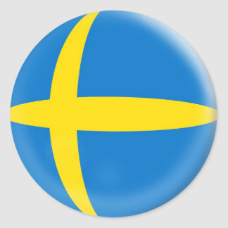 20 small stickers Sweden Swedish flag