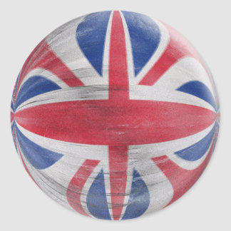 20 small stickers Union Jack distressed flag