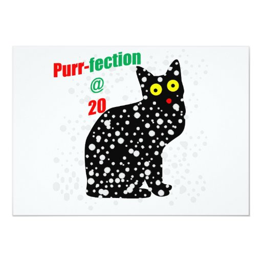 20 Snow Cat Purr-fection 5x7 Paper Invitation Card