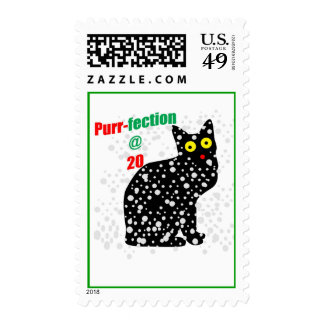 20 Snow Cat Purr-fection Postage Stamps