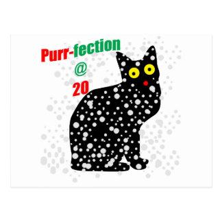 20 Snow Cat Purr-fection Postcard