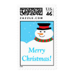 20 Snowy Snowman Postage Stamps