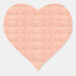 20 Soft Shade Embosed - Silken Golden Patterns Heart Sticker