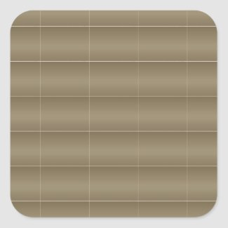 20 Soft Shade Embosed - Silken Golden Patterns Square Sticker
