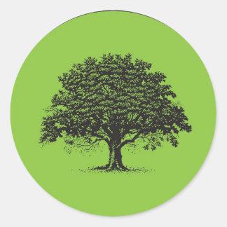 20 Spring Tree Green/Black Wedding Envelope Seal