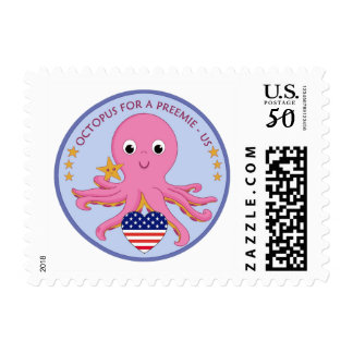 20 Stamps Various Amounts Octopus For A Preemie US