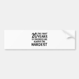 20 The First  Years Birthday Designs Bumper Sticker
