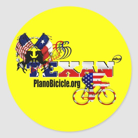 20 Thoroughbred Texan Cyclist Stickers