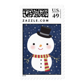 20 Top Hat Snowman Postage Stamps