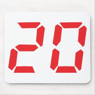 20 twenty red alarm clock digital number mouse pads