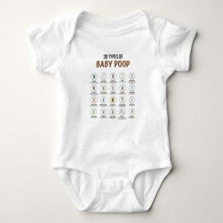 20 Types of Baby Poop Newborn One-Piece Bodysuit