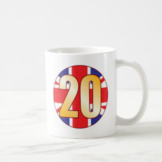 20 UK Gold Coffee Mug